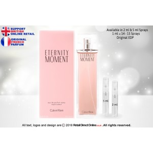 Eternity Moment Calvin Klein ( Original) | Eau de Parfum | 5 ML | Atomiser Spray Sample Tester Glass Bottle | Perfume
