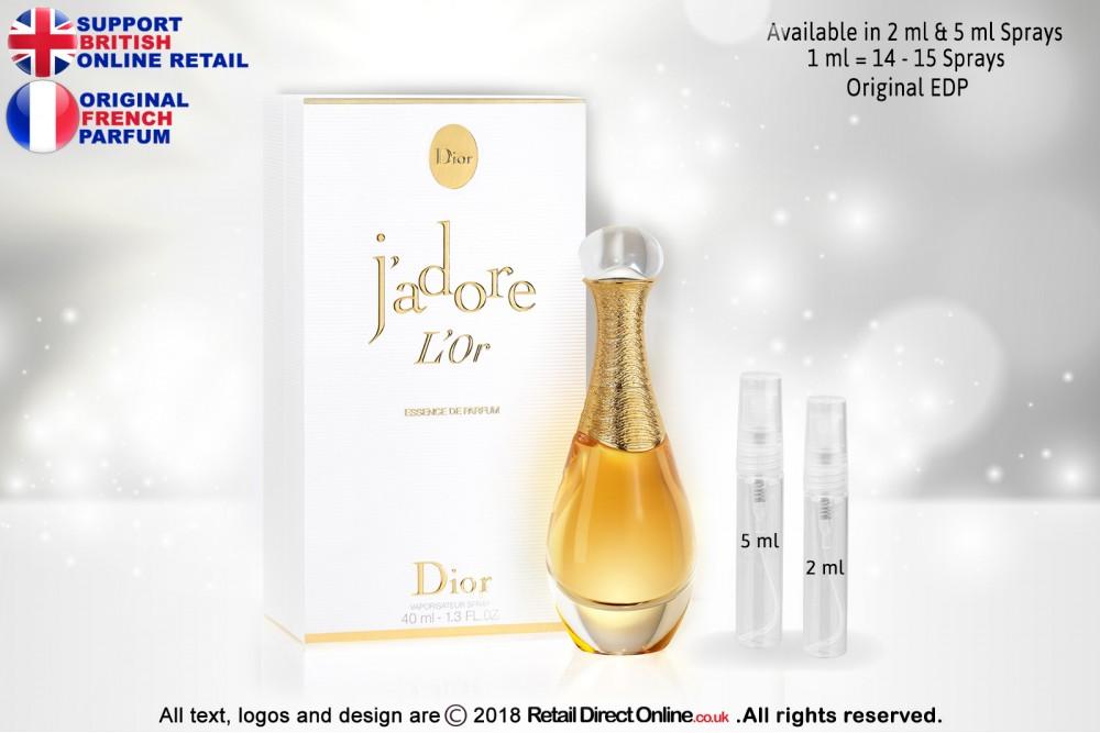 Jadore Lor By Miss Dior Original Eau De Parfum 5 Ml