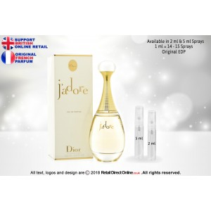 Jadore by Miss Dior ( Original) | Eau de Parfum | 5 ML | Atomiser Spray Sample Tester Glass Bottle | Perfume