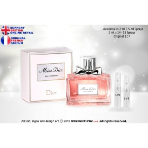 Miss Dior ( Pink) ( Original) | Eau de Parfum | 5 ML | Atomiser Spray Sample Tester Glass Bottle | Perfume